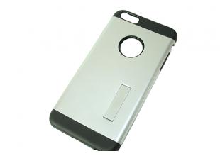 Чехол на IPhone 6/6S (задняя крышка с подставкой/серебряный)