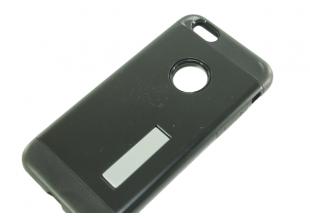 Чехол на IPhone 6/6S (задняя крышка с подставкой/черный)