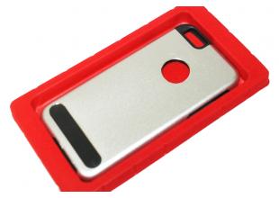Чехол на Apple IPhone 5/5S/SE задняя крышка металлическая (Серебряный)