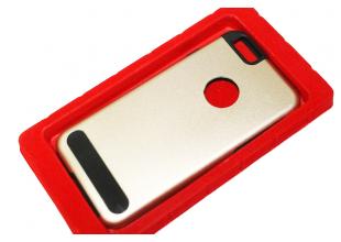 Чехол на Apple IPhone 5/5S/SE задняя крышка металлическая (Золотой)