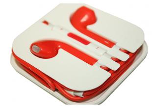 Наушники EarPods с пультом дистанционного управления и микрофоном (цветные)