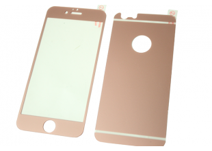 Стекло защитное цветное 2-х стор. IPhone 6 plus/6s plus (Розовый)