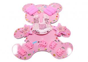 Детский набор для девочек (заколки, резинки, браслеты, колье)
