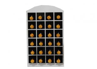 Сережки со стразами Шамбала, (гвоздики/Ø7мм/Оранжевый)
