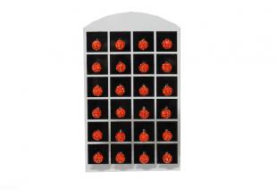Сережки со стразами Шамбала, (гвоздики/Ø7мм/Красный)