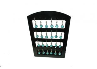 Сережки со стразами Шамбала (2шт/Ø7мм/Голубой)