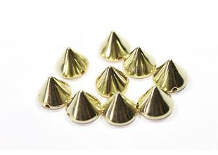 Шипы керамические для одежды пришивные (Золотые/10мм/20шт)