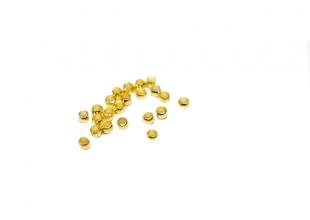 Шарики маленькие бижутерные 10шт (стопы для бус) 1мм/Золото