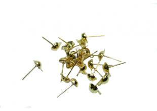 Швензы заготовки для сережек (гвоздики/золотые/50 шт)