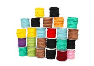 Шнур для бижутерии замшевый  (4 метра/разные цвета)
