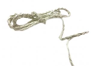 Шнур/Ремень для бижутерии  из кож.зама. плетеный (Белый/1м/3мм)