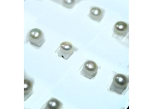 Сережки с натуральным жемчугом (Ø6-8мм/Молочный)