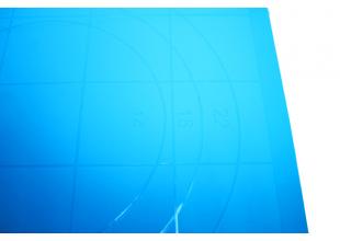 Коврик для теста силиконовый 38х28см (с разметкой)