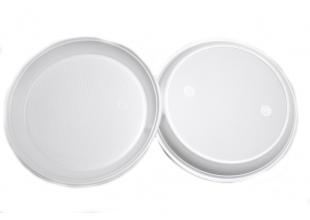 Тарелка одноразовая пластиковая (набор 10 шт.) 20см