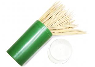 Зубочистки деревянные двусторонние (1 коробочка/100шт.)