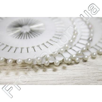 Иголки/булавки портняжные (шариковые, 12 листов) Белая