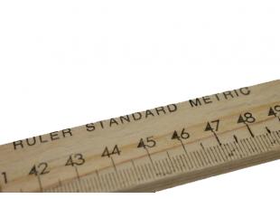 Линейка портняжная деревянная 2.7см ширина (1м)
