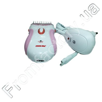 Женская электрическая бритва на аккумуляторе + насадка Nikai NK-7699