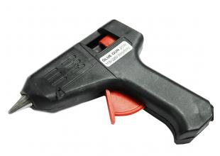 Пистолет клеевой силиконом 7мм (20W/черный)