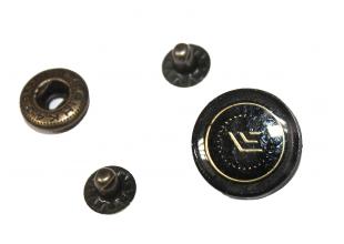 Кнопки для одежды коричневые (10шт/19мм)