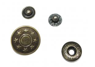 """Кнопки для одежды """"8 звезд"""" (10шт/19мм)"""