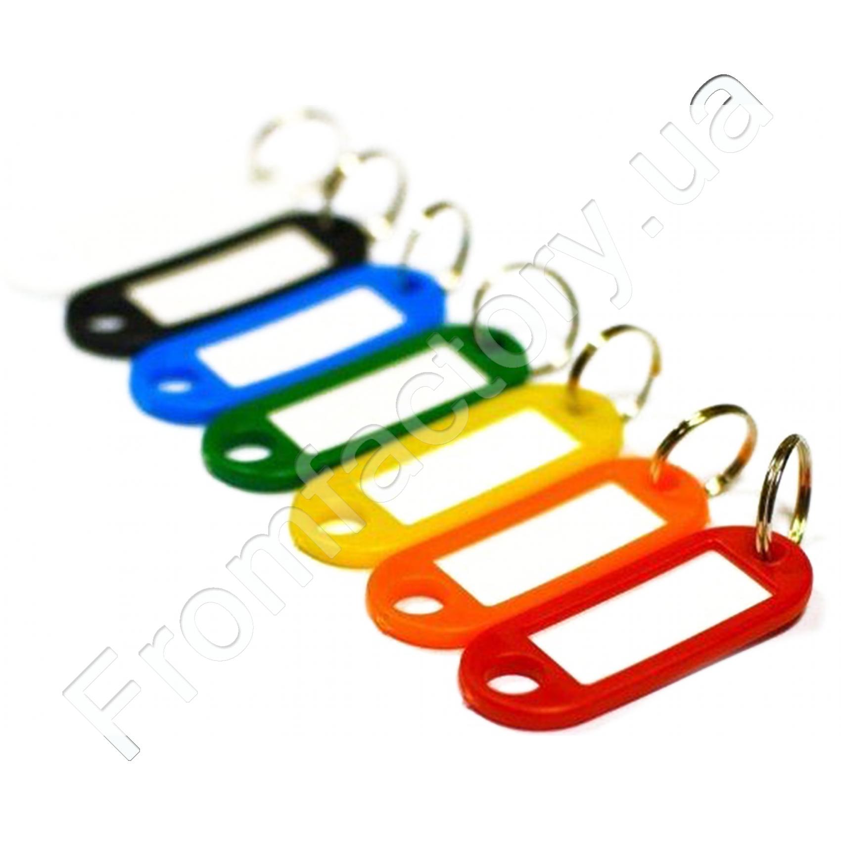 Брелок для ключей пластмассовый 50х22мм