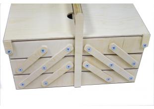 Шкатулка/органайзер деревянный с раскладным механизмом 5 отделений 36х20х18см