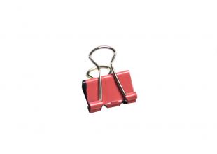 Зажим/Биндер канцелярский (цветной) 1.5см 1шт.