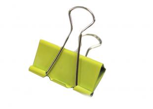 Зажим/Биндер канцелярский (цветной) 5х2.5см 1шт.