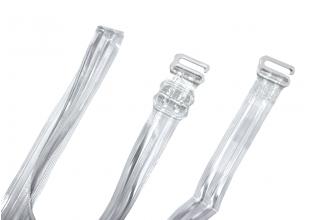 Бретельки силиконовые с пластмассовыми регулировками и металлическими крючками