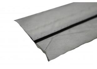 Корсажная лента х/б + синтетика белая с черной полоской 1 метр/5см