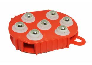 Массажер силиконовый антицеллюлитный с металлическими вставками 10х13см