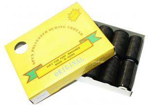 Нитки (777) черные (упаковка 10 шт.)