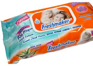 Салфетки влажные Freshmaker (с колпаком) 72шт