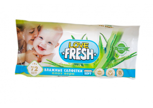 Салфетки влажные  Love Fresh (детские) 72шт