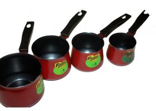Турки для кофе набор 4шт тефлоновые (450мл/300мл/200мл/150мл)