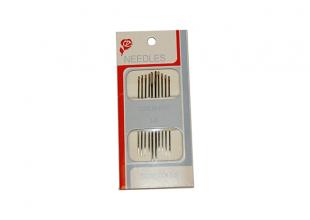 Иголки для ручного шитья (GOLD – EYE) Embroidery 1/5 (с увеличенными ушками, 10 игл)