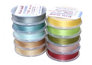Нитки для бисера TYTAN цветные набор 10шт №2500/0.1мм/100м
