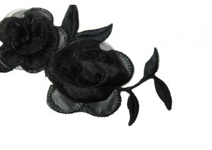 Аппликация для одежды черная