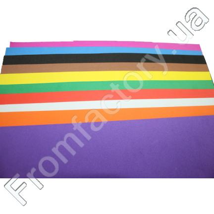 Фоамиран матовый (разные цвета) 1мм/20х30см