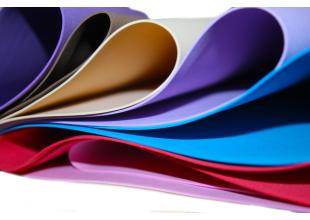 Фоамиран матовый (разные цвета) 1мм/50х40см