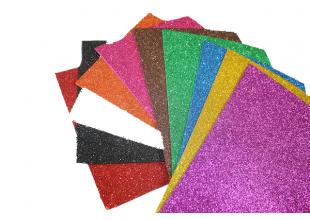 Фоамиран блестящий/глиттерный на клейкой основе (разные цвета) 2мм/20х30см