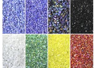 Бисер 100 грамм (РУБКА) набор всех цветов 7шт.