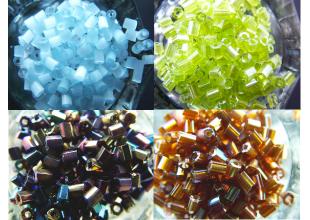Бисер 100 грамм (РУБКА) набор всех цветов 9шт.