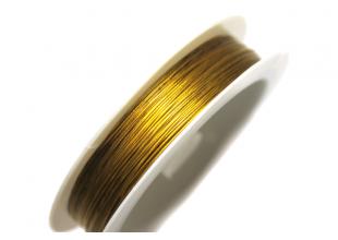 Тросик для бижутерии (30м/0.38мм/золото)