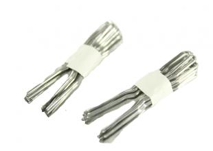 Шпильки для волос серебристые (4.5см/10шт)