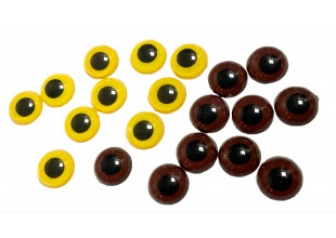 Глазики для игрушек без ресничек (10шт/14мм)