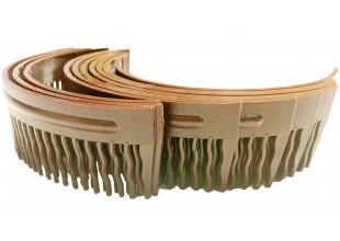 Гребешок для волос пластмассовый коричневый 15 см