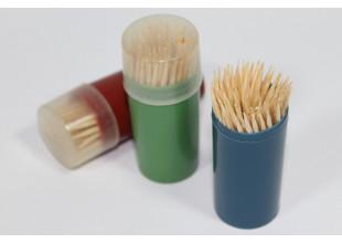 Зубочистки деревянные двусторонние (12 коробочек/1200шт.)