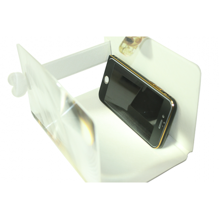 3D увеличитель экрана телефона (кожаный)